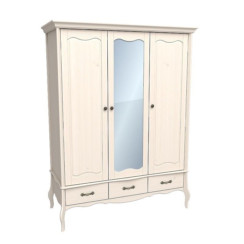 Шкаф из массива сосны с зеркалом Лебо