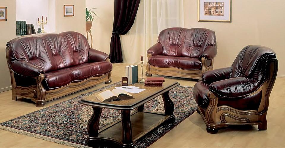 Кожаные диваны и кресло Данко